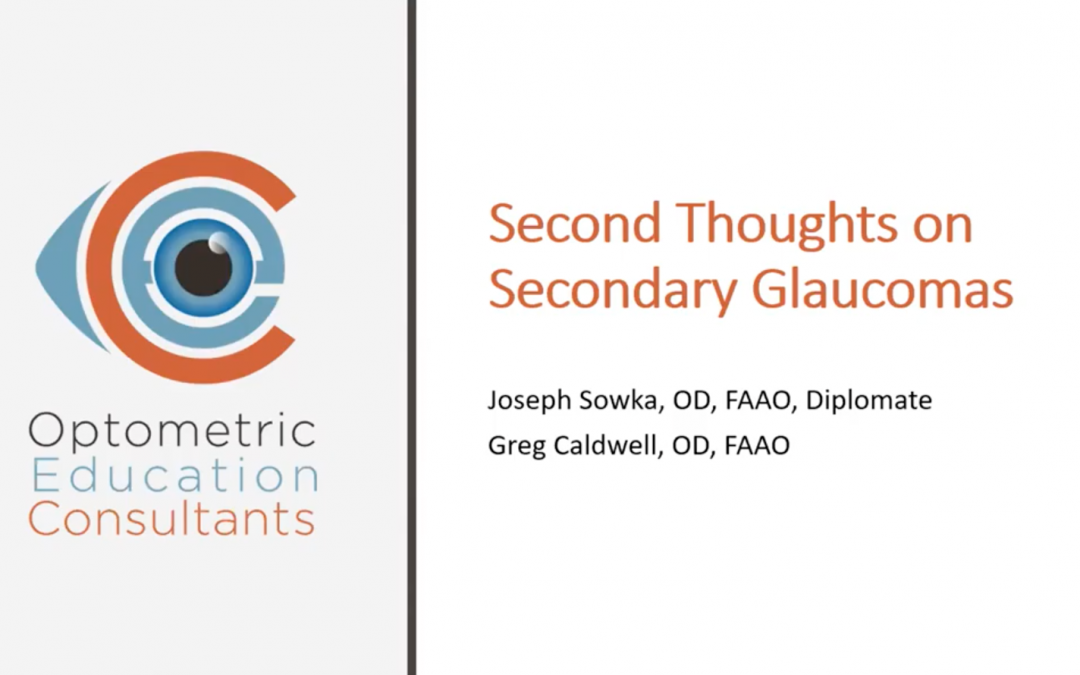 Second Thoughts on Secondary Glaucomas